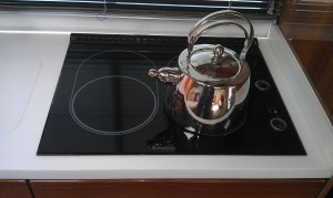 The Dometic  Ceramic LPG Gas Hob in black
