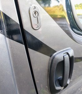 Extra security locks to the cab doors