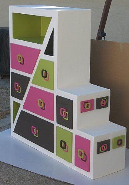 meuble de rangement en carton