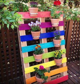 meuble-palette-porte plantes
