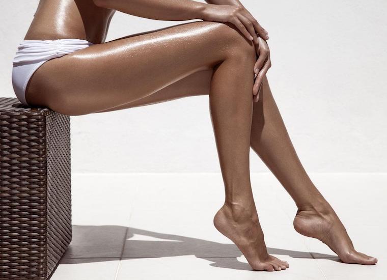 Flawless self-tan legs