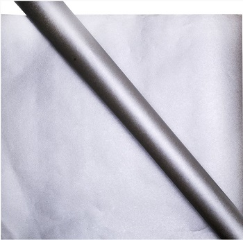 silver eco wrapping paper