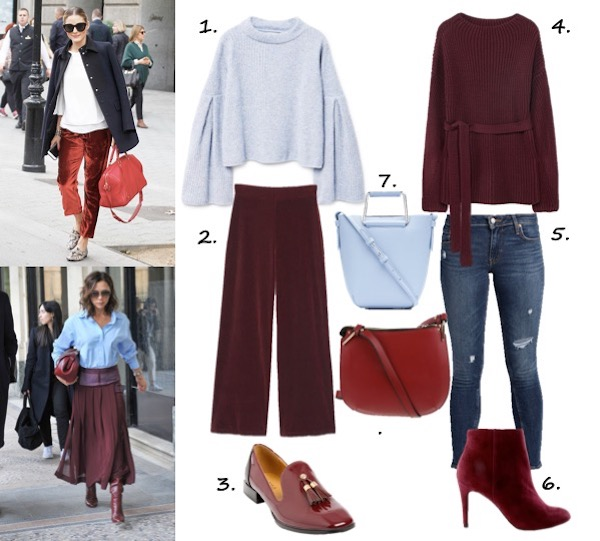 dress the trend - burgundy