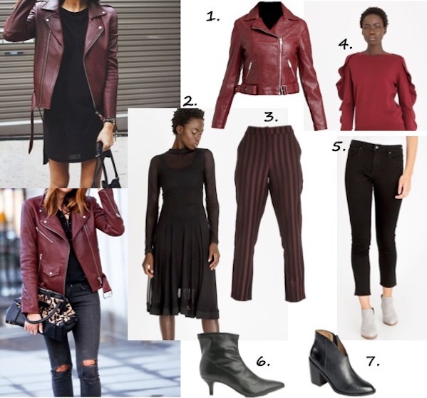 wear the trend - burgundy