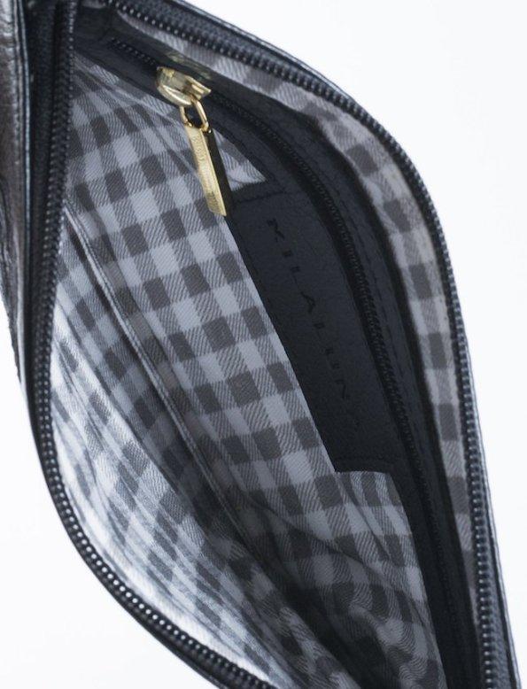 Milaluna Black Leather Pouch Bag – Inside