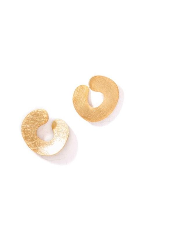 Kirsten Goss Do Not Disturb Earrings Gold Vermeil