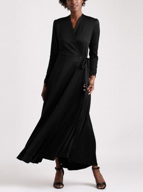 Mareth Colleen Meg Dress in Black