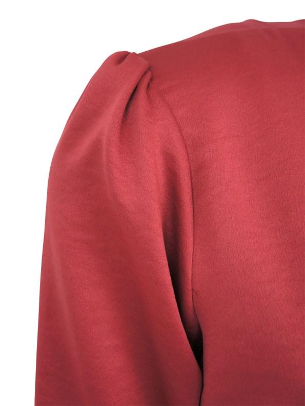 Mareth Colleen Meg Dress Red Detail