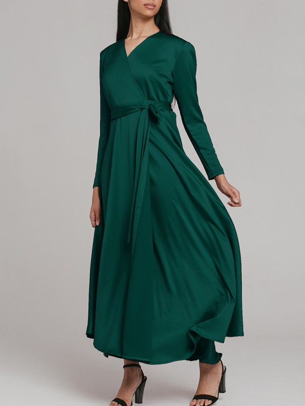 Mareth Colleen Meg Wrap Dress Green 2