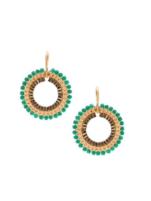 Mini Cameo Green Earring
