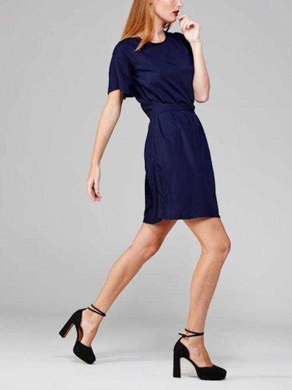 April Dress Navy Side