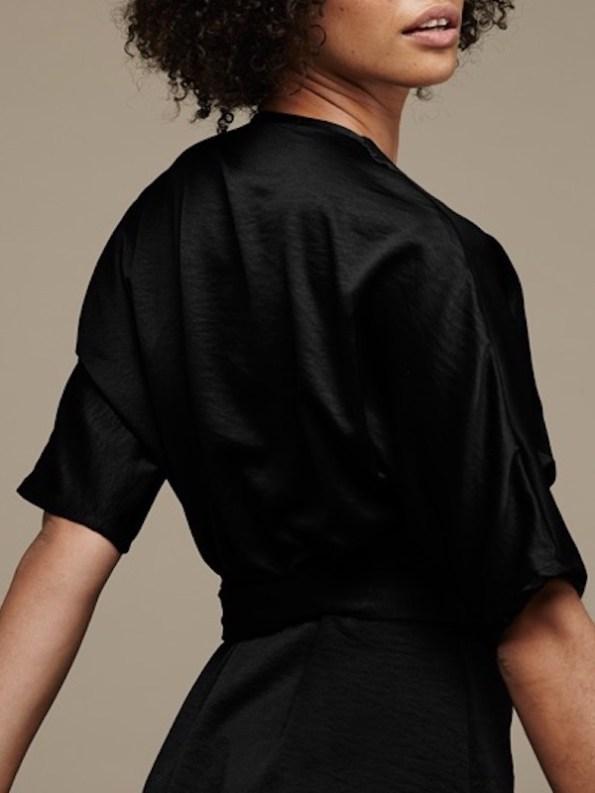 Mareth Colleen Bea Dress Black Closeup