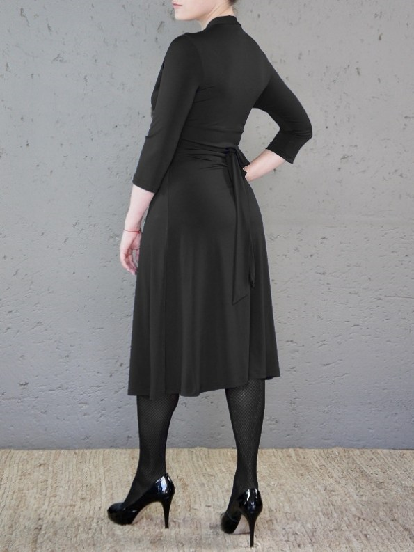 The Kate Dress Black Back