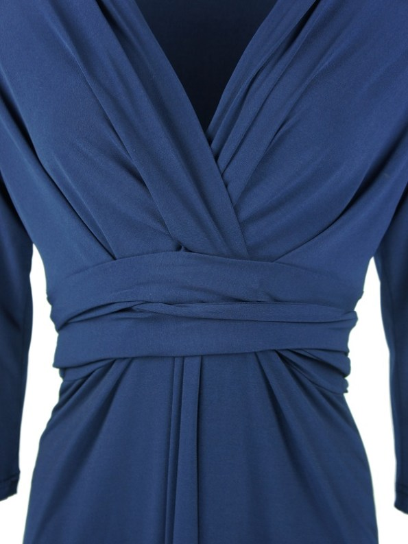 The Kate Dress Navy Detail