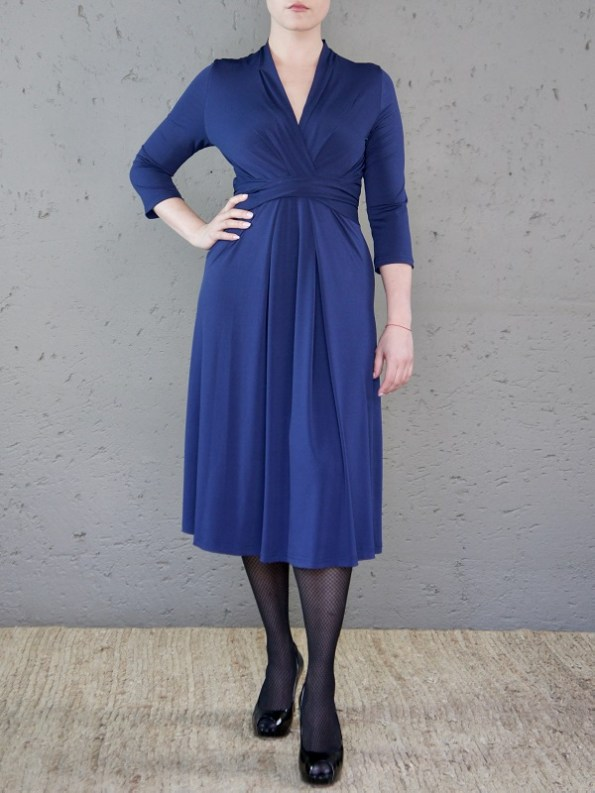 The Kate Dress Navy Front