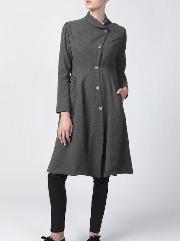 Vivienne Coat Anthracite Front