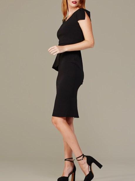 Mareth Colleen Lock Dress Black Side