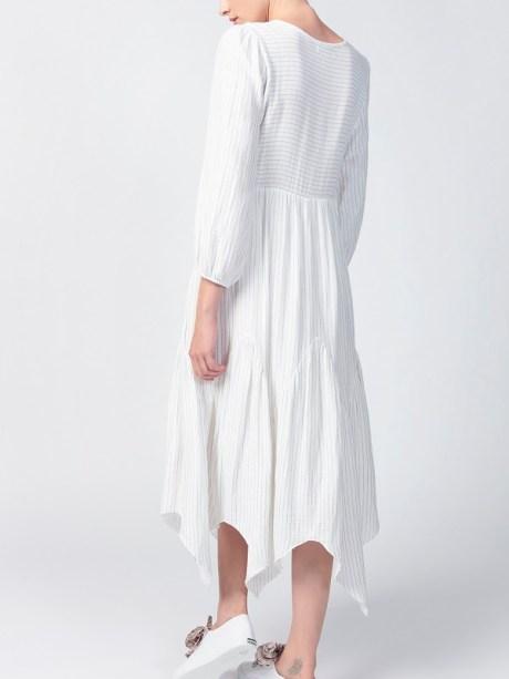 White dress with asymmetrical skirt