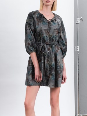 Smudj Tana Green Floral Dress