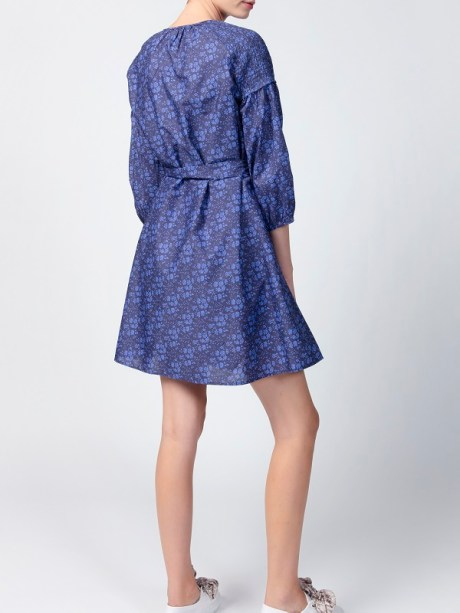 Smudj Tana Blue Floral Dress