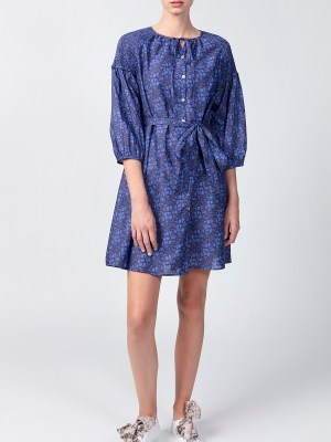 Smudj Tana Dress Blue Floral