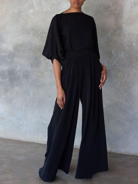 Erre Stride Wide Leg Pants Black Shopfront