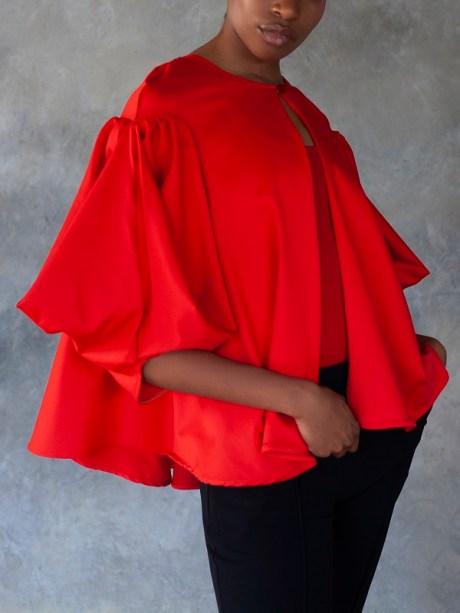 Erre Swing It Jacket Red with Sprint Skinny Pants Black Side