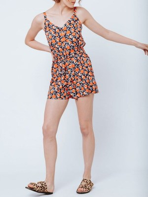 Good Strappy Playsuit Oranges Front