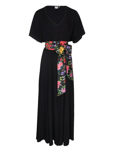 black maxi dress with floral sash South Africa