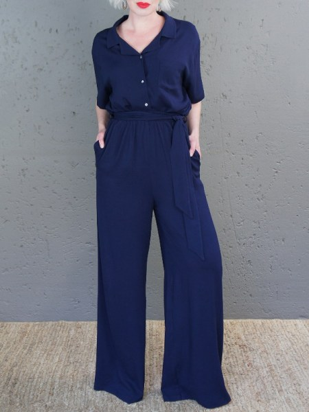 JMVB Cannes Pants Navy and Nimes Shirt Front