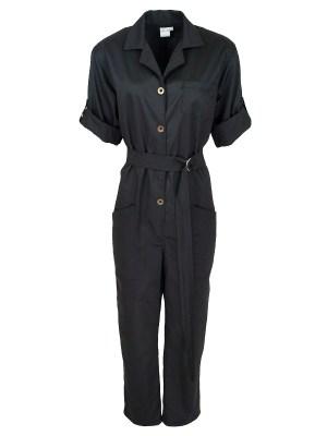 JMVB Menton Boiler Suit Black