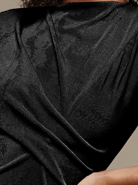 Mareth Colleen Faye Dress Black Closeup