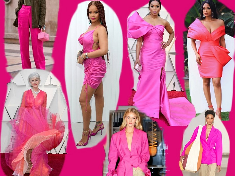 2019 Colour trends hot pink