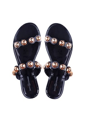 Saint and Summer Sandal with gold studs