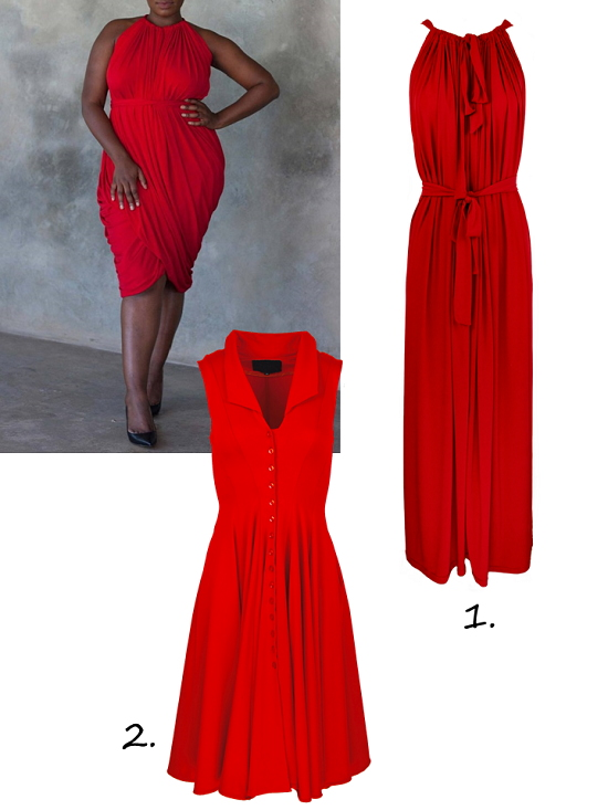 Red dresses made in South Africa