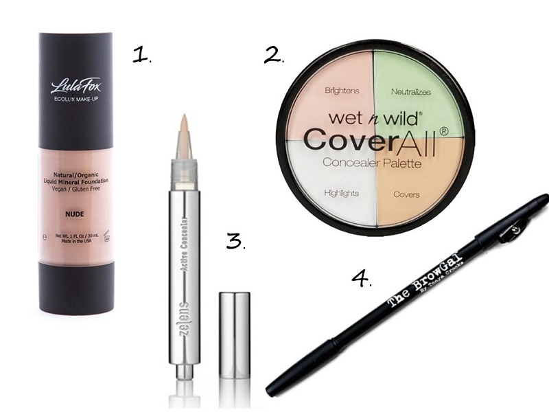 Vacay makeup concealers and brow tools