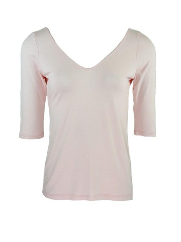 Smudj Ballet V-neck Top Soft Pink Shopfront
