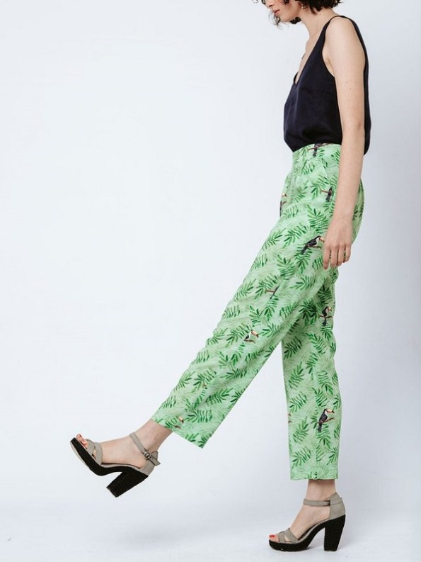 Good Clothing Kandy Pants Green Toucans Side