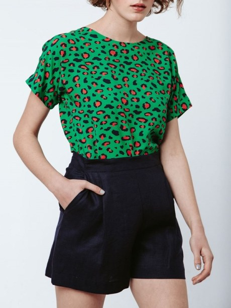 Good Clothing Marble Top Green Leopard Front