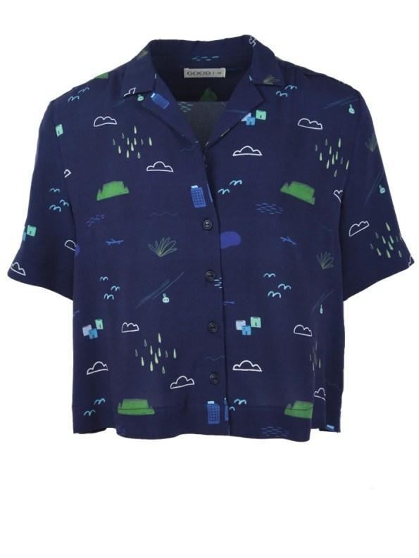 Good Clothing Summer Shirt Navy Cape Town Scene
