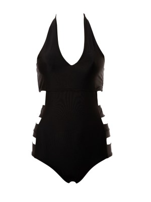 African Style Story Dimi Swimsuit Black with Black Doors