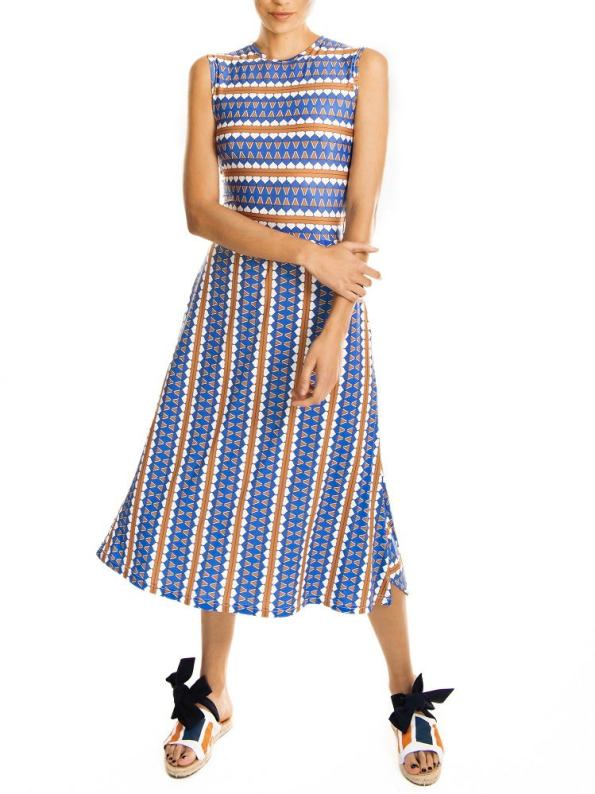 African Style Story Estremoz Cutout Dress Front