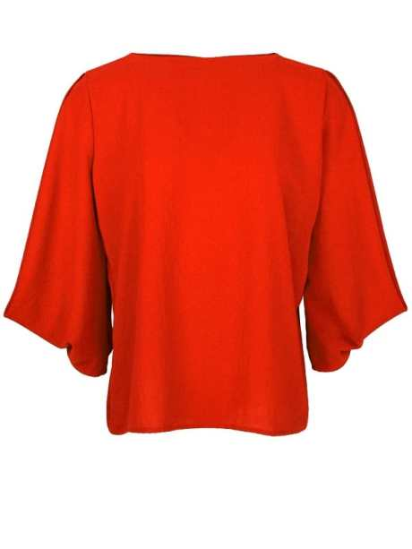 Erre Power Sleeve Blouse Fired Red
