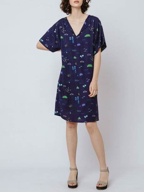 Good Clothing Resort Tunic Navy Cape Town Scene Front