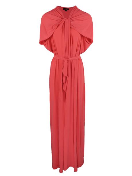 Erre Twist Maxi Dress Coral