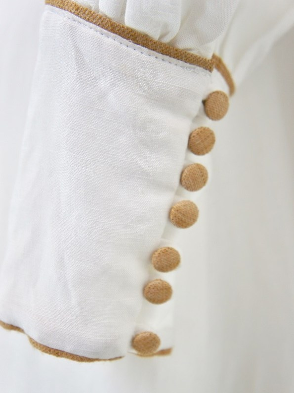 Smudj Aaron Maxi Dress White Linen Sleeve Detail