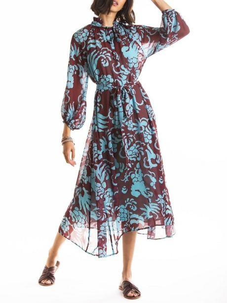 Smudj Nottingham Dress Modeled Front