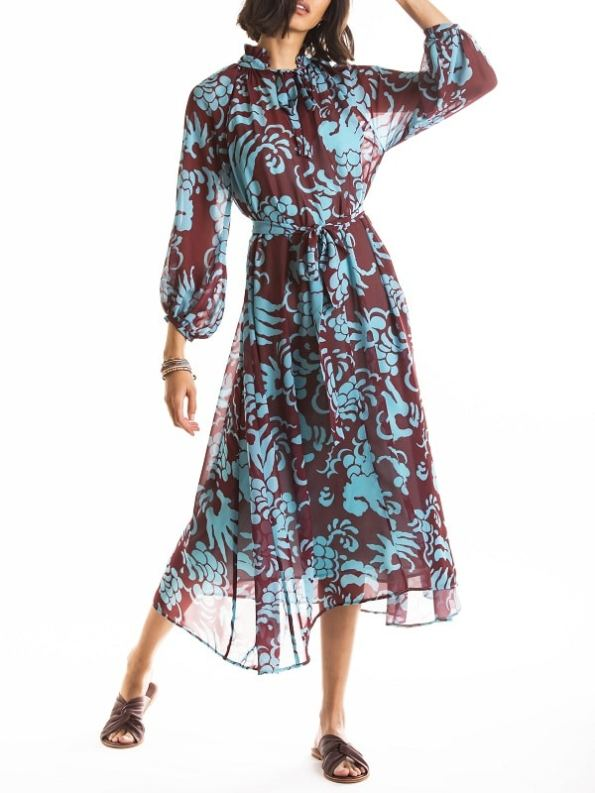 Smudj Nottingham Dress Modeled Front