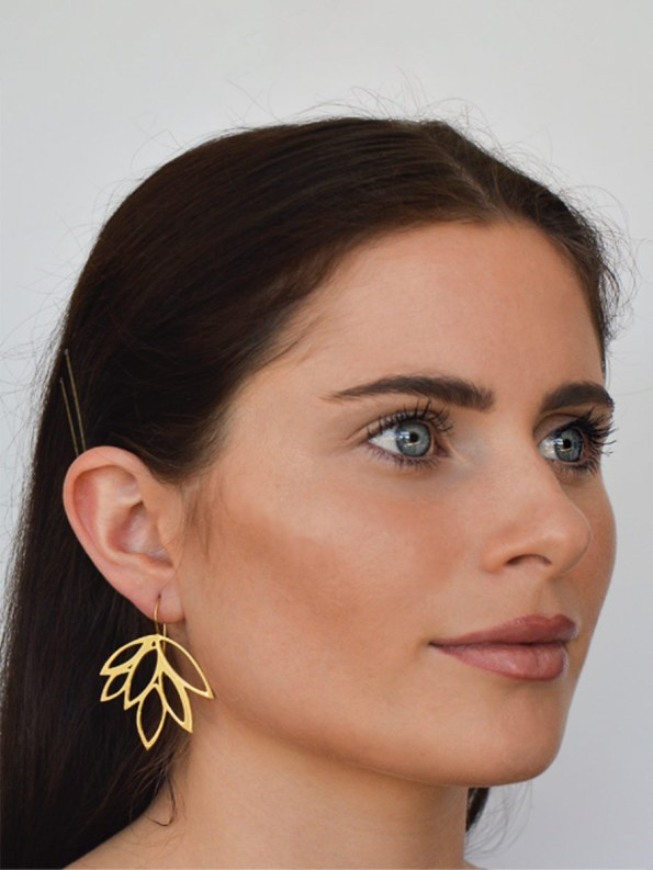 Kirsten Goss Balti Earrings Gold Model