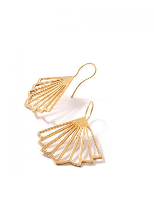 Kirsten Goss Kenzo Earrings Gold Side